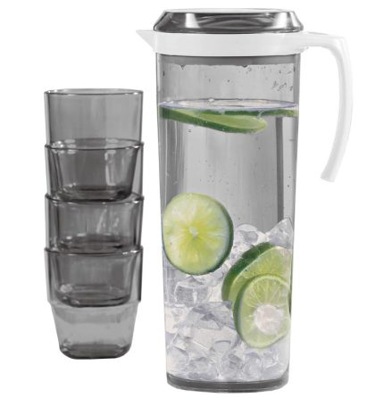 Pitcher Set 1,5 liter med 4x glas
